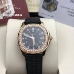 Patek Philippe Aquanaut Luce 5068R-001 Rose Gold/Black Strap