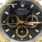 Rolex Daytona Cosmograph Black Dial Two Tone - Wall Clock