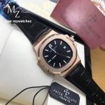 Patek Philippe Men's Nautilus 5711-R, All Black/Rose Gold Case