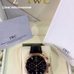 IWC Portugiser Chronograph Black dial Gold Case 2nd Edition