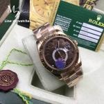 Rolex Sky-Dweller Chocolate Dial Rose Gold Ref: 326934 - CC Grade
