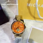 Michael Kors MK6162 Ladies Runway Gold Plated Chrono Watch