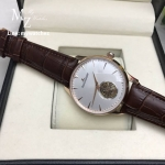JLC MASTER Ultra Thin Toubillion Pink Gold 39MM - Brown Leather