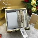 Michael Kors Gold Tone Pave Crystals Hinged Bangle MKJ3666710