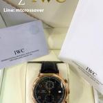 IWC Portugiser Black dial Gold Case Origin Style