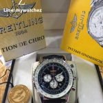 Breitling Navitimer 01 - Black Dial and Leather Strap