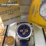 Breitling Navitimer 01 - Blue Dial Rose Gold Leather Strap
