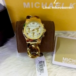 Michael Kors Chain Link Acrylic Gold-tone Ladies Watch MK4222