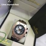 AUDEMARS PIGUET ROYAL OAK OFFSHORE Pink Gold - Three 3 Sub White Dial