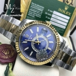 Rolex Sky-Dweller White Dial Ref: 326934 - Two Tone Blue Dial