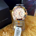 Marc by Marc Jacobs Chronograph Silver Dial Two-tone Ladies Watch MBM3178