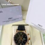 IWC Portugiser Chronograph Black Dial Gold Case Encounter