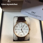 IWC Portugese White Dial Chronograph# IW371480