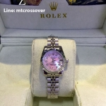 Rolex Datejust Lady Light Purple Stainless with Diamond