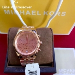 Lexington Chronograph Rose Gold PVD Ladies Watch - MK5569