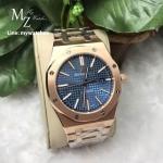 Audemars Piguet Royal Oak 15400 Pink Gold Bracelet Blue Dial
