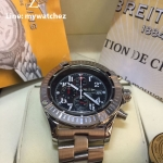 Breitling Super Avenger I Watch A13370 - Stainless Black Dial