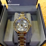 """GUESS Women's W0111L5 """"Sparkling Hi-Energy"""" Silver- And Gold-Tone Watch"""