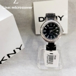 DKNY Ladies Watch NY4980 with Black Dial and Black Ceramic Strap