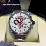TAG Heuer V4 Stainless White Dial Red Sub-Second