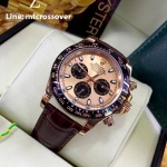 Rolex Cosmograph Daytona - Gold Dial Brown Bezel and Leather Strap