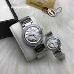CARTIER Ballon De Cartier - Silver Stainless Diamond Case