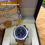 Breitling Navitimer Aopa - ฺBlue Dial Stainless with Brown Leather Strap