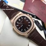 PATEK Philippe Men's Nautilus 5711-R, Black/Brown Rose Gold Case