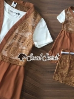 เสื้อผ้าแฟชั่นเกาหลี Seoul Secret Say's... BrownLace Cami 3 pieces Set