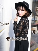 Seoul Secret Say's... Lacely Pleaty Skirt Lace Maxi Dress
