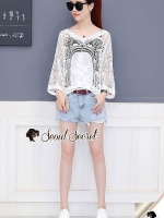 Seoul Secret Say's... Cirly Stick Bohe Style Blouse