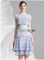 🎀 Lady Ribbon's Made 🎀Lady Melanie Sweet Feminine Pleated Lace Dress