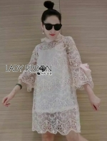 เสื้อผ้าแฟชั่นเกาหลี Lady Ribbon Thailand Lady Ribbon's MadeLady Ann Boleyn Modern Vintage Lace Dress