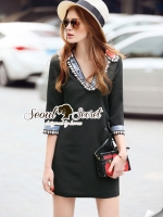 Seoul Secret Say's... Colory Sequin V Collar Dress