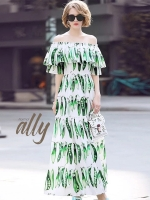 เสื้อผ้าแฟชั่นเกาหลี Lady Ribbon Thailand Normal Ally Present Dolce&Gabbana new collection maxidress