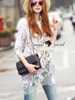 Seoul Secret Say's... Pink Sakura Bloomy Blouse