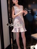 Seoul Secret Say's... Lovely Pastel PinkyBlue Lace Dress