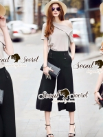 Seoul Secret Say's... Slantly Blouse Pants Set