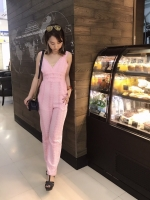 เสื้อผ้าแฟชั่นเกาหลี Normal Ally Present Lace summer playsuit