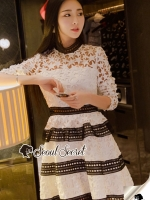 Seoul Secret Say's... Ladiest Star Layer Skirt Lace Dress