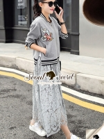 Seoul Secret Say's... Ladiest Chill Out Jacket Lace Skirt Set