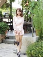 เสื้อผ้าแฟชั่นเกาหลี Lady Ribbon Thailand Normal Ally Present C.N sweet set