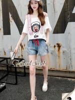 Seoul Secret Say's... Moschino Cami Chic Denim Shorts Set