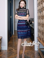 เสื้อผ้าแฟชั่นเกาหลี Lady Ribbon Thailand LUXURY by Seoul Secret ...Lady Elegant Organza Lace Dress Korea Style
