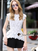 Seoul Secret Say's... White Daisy Cami Blouse