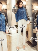 Seoul Secret Say's... Leopard Chill Out Skinny Set