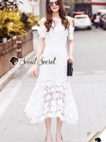 Seoul Secret Say's... Princess Daisy Curlv Lace MaxiDress