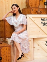 เสื้อผ้าแฟชั่นเกาหลี New Arrival .. Don't Miss!! Present M.R.H flower print and lace new collection 2017