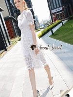 Seoul Secret Say's... Pearly Princess Maxi Lace Dress