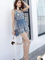 Seoul Secret Say's... Soosy Cami Playsuite Bohe Embroider